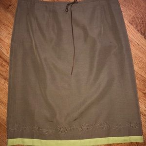 Ann Taylor Silk Petite Skirt